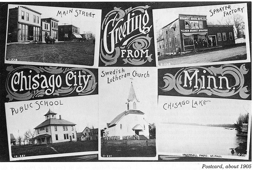 Chisago City postcard circa 1905