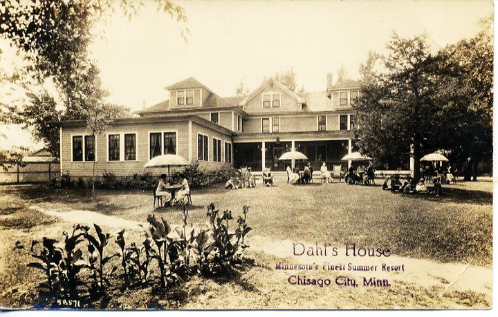 Dahl's House 1923 Postacrd shot GREAT